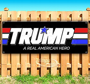 Store Many Sizes Available Flag, Advertising Americans for Trump 13 oz Heavy Duty Vinyl Banner Sign with Metal Grommets New