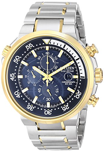 Citizen Men's Eco-Drive Chronograph Watch with Date, CA0444-50L