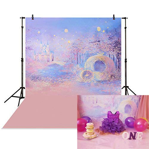 Funnytree 5x7ft Photography Backdrops Background Blue Bokeh Dreamy Night Castle Boy Girl Summer Baby Shower Photography Studio -