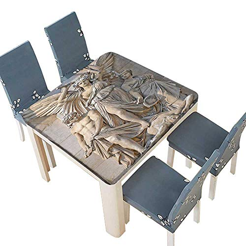 - PINAFORE Polyester Tablecloth Table Cover Collection Sculpture Composition at The Facade The Opera Garnier Paris Historical Mason Dining Room 45 x 45 INCH (Elastic Edge)