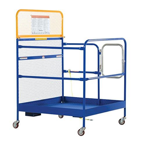 Vestil-WP-4848-CA-Steel-Work-Platform-1000-lb-Capacity-48-x-48-with-Casters-Powder-Coat-Blue