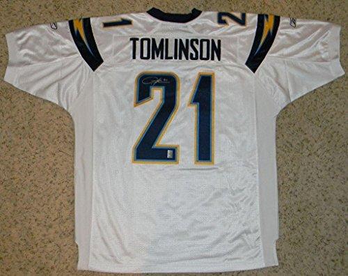 Autographed LaDainian Tomlinson Jersey - Reebok #21 White - Autographed NFL Jerseys ()