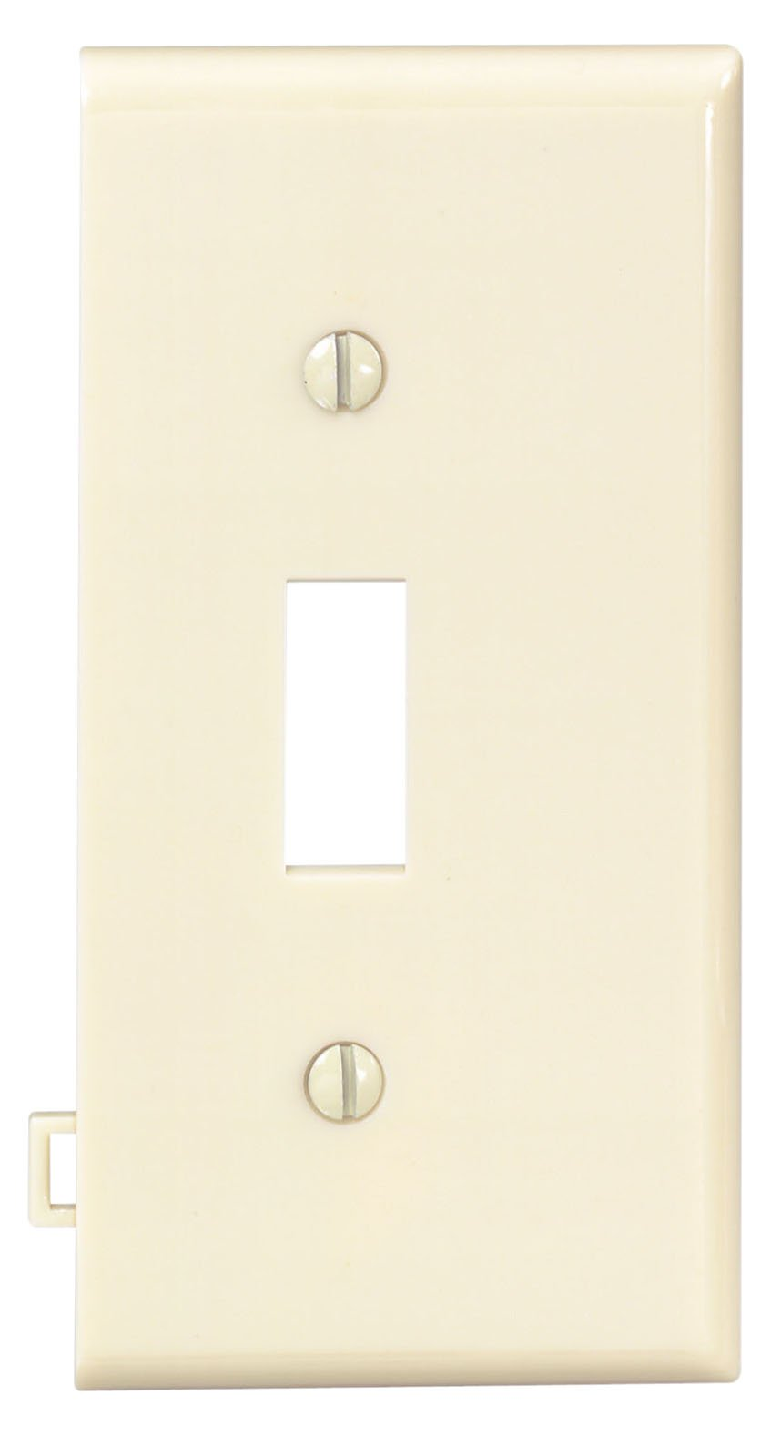 Leviton PSE1-I 1-Gang Toggle Device Switch Wallplate, Sectional, Thermoplastic Nylon, End Panel, Ivory