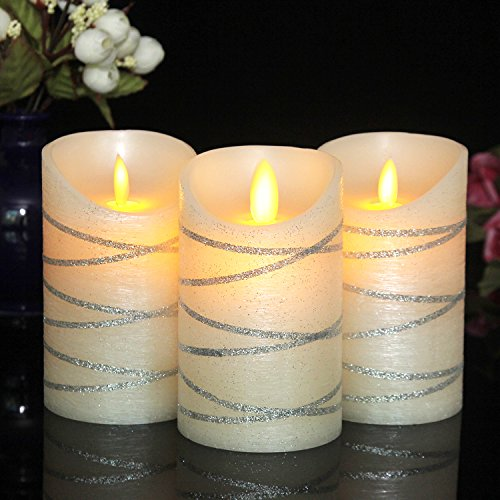 silver candles with timer - 9