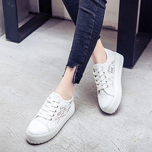 Mujer Zapatos Depotiva Zapatillas Plataforma Verano Casual Talón 3.8cm Negro Blanco 35-42 Blanco Los tamaños asiáticos del zapato son más pequeños un patio que tamaño de la UE, eligen por favor un tamaño más grande, O elegir el tamaño de acuerdo a la long