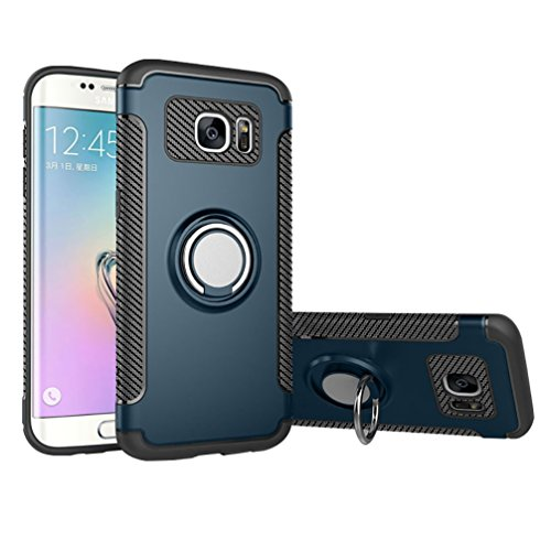 ANERNAI Galaxy S7 Edge Case Slim Shockproof TPU+PC Magnetic 360° Rotation Ring Holder Cover for Samsung Galaxy S7edge