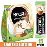 [Limited Edition] Nescafe 3 in 1 Tropical Coconut Coffee Latte - Instant Coffee Packets - Single Serve Flavored Coffee Mix (15 Sticks)