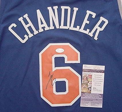 d3dca1ebf39 Tyson Chandler New York Knicks Autographed Blue #6 Jersey JSA COA at ...