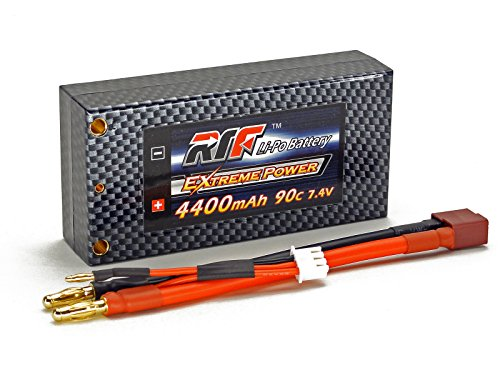 7.4V 4400mAh 2S Cell 90C-180C Shorty HardCase LiPo Battery Pack w/ 4mm Bullet/Banana & Deans Ultra Connector w/ WARRANTY - Giant Power, Dinogy, Extreme Power, RTF