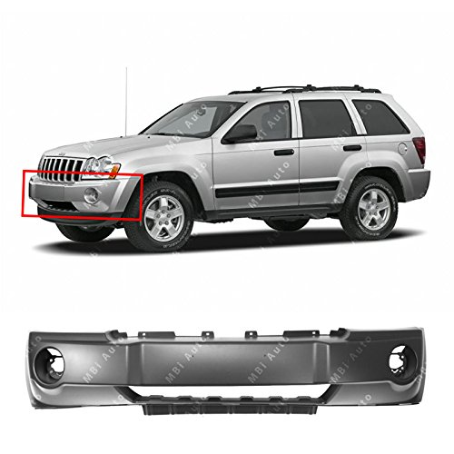 MBI AUTO - Primered, Front Bumper Cover Fascia for 2005-2007 Jeep Grand Cherokee 05-07, CH1000451