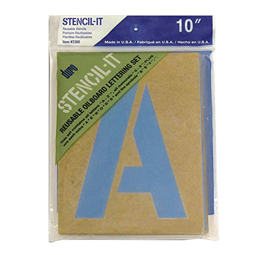 3360 Labels - Duro Graphic Products Stencil-It Oil Board Stencil Set, 10