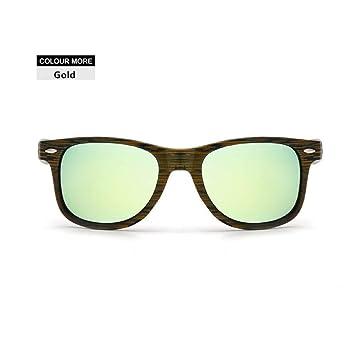 LLLM Gafas de sol Gafas de Sol de imitación de Madera ...
