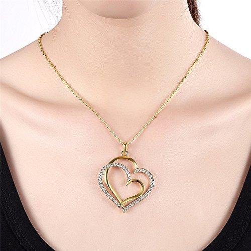 Collar–Grandes Corazones–dorado