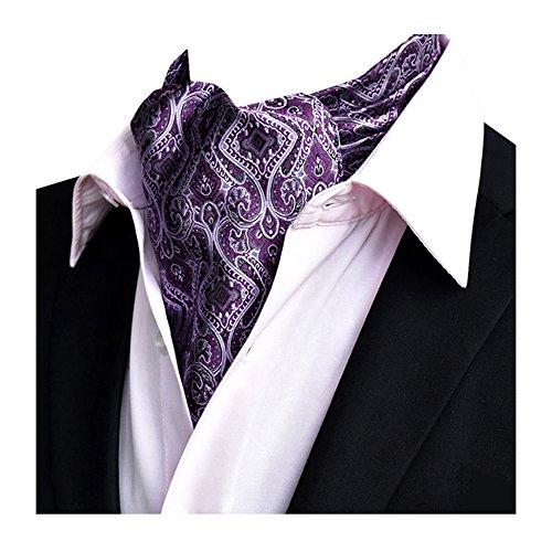 Ascot NeckTies Mens Scarf Tie 14 Silk Dlj Cravat Paisley Premium YCHENG Wedding dYRqznOHH