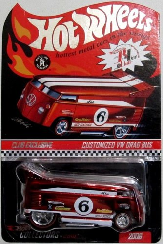 Hot Wheels RLC Club Exclusive Customized VW Drag Bus 2006 1:64 Scale Collectible Die Cast Car