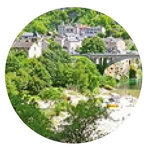 alfombrilla de ratón Puente y de la playa en Saint-Chely-du-Tarn - ronda - 20cm