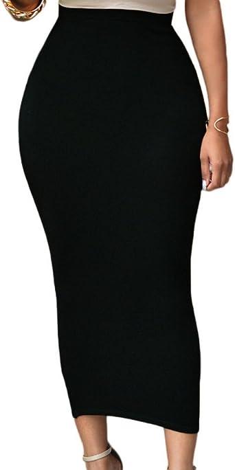 SEBOWEL Falda Bodycon Mujer Cintura Alta Falda Lápiz Sexy ...