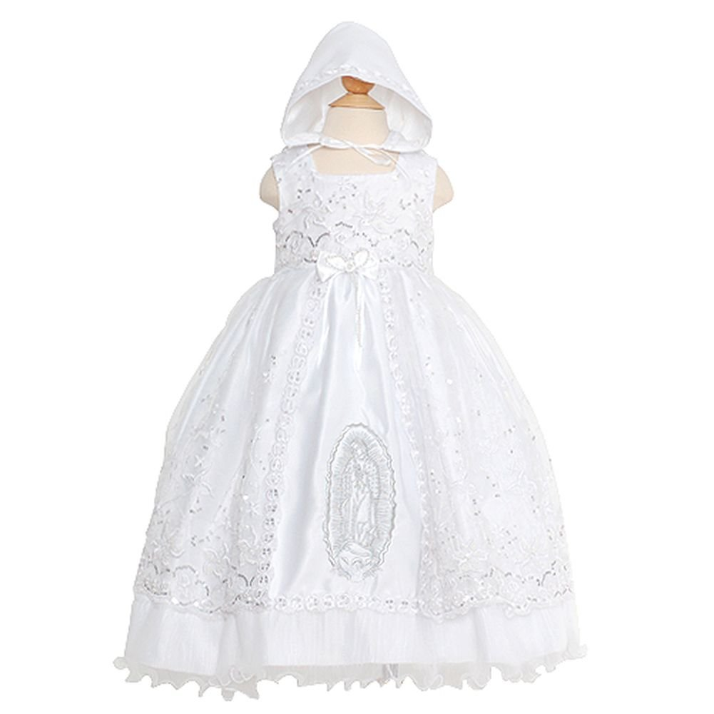 Rain Kids White Mary Silver Embroidered Baptism Dress Baby Girls 12M The Rain Kids