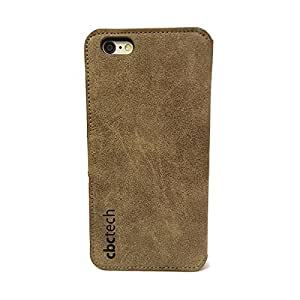 cbctech® Premium Ante Funda de piel para Iphone 6PLUS/6S Plus con ranuras para tarjetas (Marrón), compatible con Aple iPhone 6 Plus