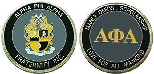 - Alpha Phi Alpha Fraternity - Sorority Collectible Coin/ Logo Poker /Lucky Chip