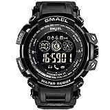 IAMUP SMAEL Fashion Men's Smart Watch Popular Bluetooth Digital Sports Wrist Watch Waterproof Black