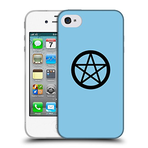 GoGoMobile Coque de Protection TPU Silicone Case pour // Q08390609 Religion 3 Bébé bleu // Apple iPhone 4 4S 4G