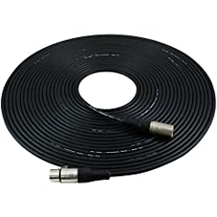 """Professional Series Noise Free Mic Cables. They have a thick, high quality, flexible rubber jacket. They are heavy duty Noise Free """"True Balanced LO-Z"""" and have 3 pin XLR connectors on each end. These cables have dual insulated copper conduct..."""