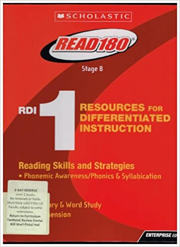 Read 180 Stage B Resources For Differentiated Instruction 1