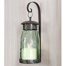 Colonial Tin Works Quart Mason Jar Hanging Wall Sconce