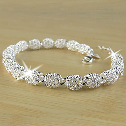Rurah Women Charm Bracelet Hollow Ball Bracelet Jewelry