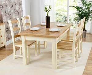 Pa s pintado pino fresno grande de muebles mesa de comedor for Amazon muebles comedor
