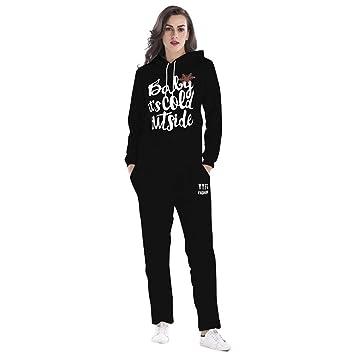 ZHRUI Sudaderas para Mujer Swearshirt 1 Pieza Navidad Copos de Nieve Sudaderas con Capucha Swearshirt Mujeres Navidad Jerseys Chándales Conjuntos Sudadera + ...