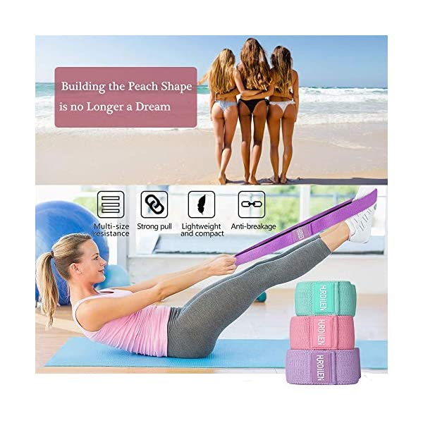 Hurdilen Resistance Bands Loop Exercise Bands,Workout Bands Hip Bands Hip Resistance Band for Legs and Butt,Activate Glutes and Thigh