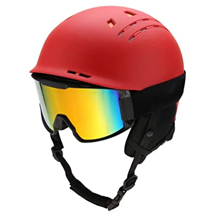 Unisex Adults Snow Sports Ski Snowboard Protection Helmet With Anti Froging Goggles Ski Helmets Sports & Entertainment