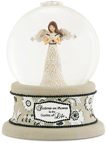 Pavilion Gift Company Modeles 88067 100mm Musical Water Globe with Angel Figurine, Sister, 6-Inch (Musical Snowglobe Angel)