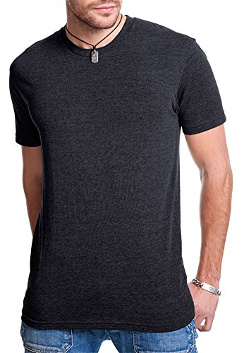 Next Level Apparel Men's Triblend Knit Crewneck T-Shirt, Vintage Blk, Small