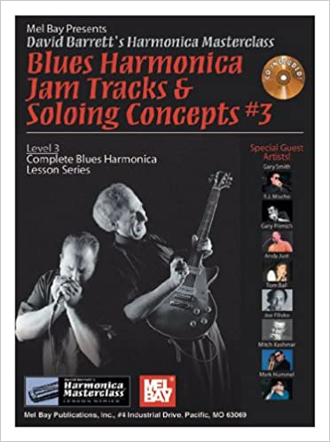 Amazon com: Mel Bay presents Blues Harmonica Jam Tracks & Soloing #3