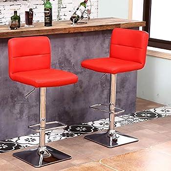Amazon Com Modern Swivel Barstools With Chrome Base