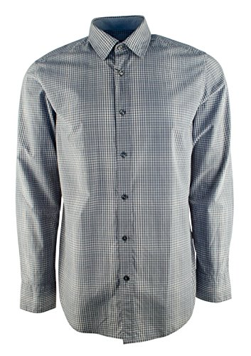 Hugo Boss Boss Men's Regular Fit Lukas Ombre Plaid Sport Shirt-GM-XL