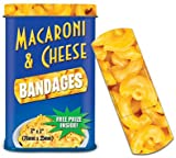 MEAT MANIAC Novelty Bandages Combo Gift Pack with Sticker- Macaroni and Cheese Bandaids & Bacon Bandaids