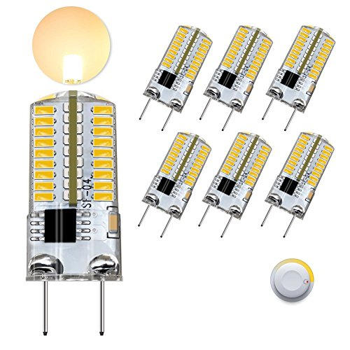 DiCUNO G8 LED Bulb Dimmable, 3W Warm White 3000k, G8 Bi Pin Base Light for under Cabinet Counter Microwave, 30w Equivalent Halogen Replacement, 6-Pack,NOTE: Must Check Size (Picture 2) Before Purchase