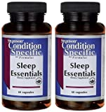 Swanson Sleep Essentials -- 2 Bottles each of 60 Caps