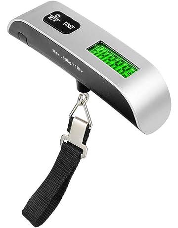 AimdonR - Báscula para Equipaje, portátil Digital con Pantalla LCD de 110 kg / 50