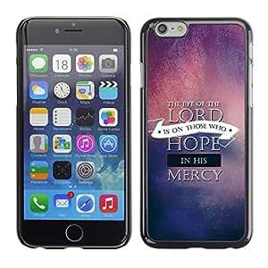 Paccase / Dura PC Caso Funda Carcasa de Protección para - BIBLE The Eye Of The Lord - Apple Iphone 6