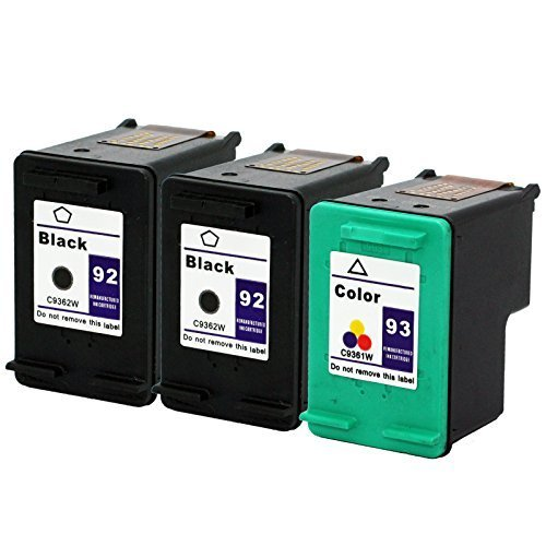 Unknown Remanufactured Ink Cartridge Replacement for HP C9362WN (Black,Tri Color,3-Pack)