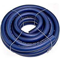 Conext Link 15 FT 2/0 00 AWG GA Full Gauge Battery Power Cable Ground Wire Frost Blue OFC Copper