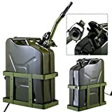 Search : Clever Market 5 Gallon Fuel Pack Spare Container Automotive Jerry Can Holder Gas Tank Off Road Metal 20L Military Green