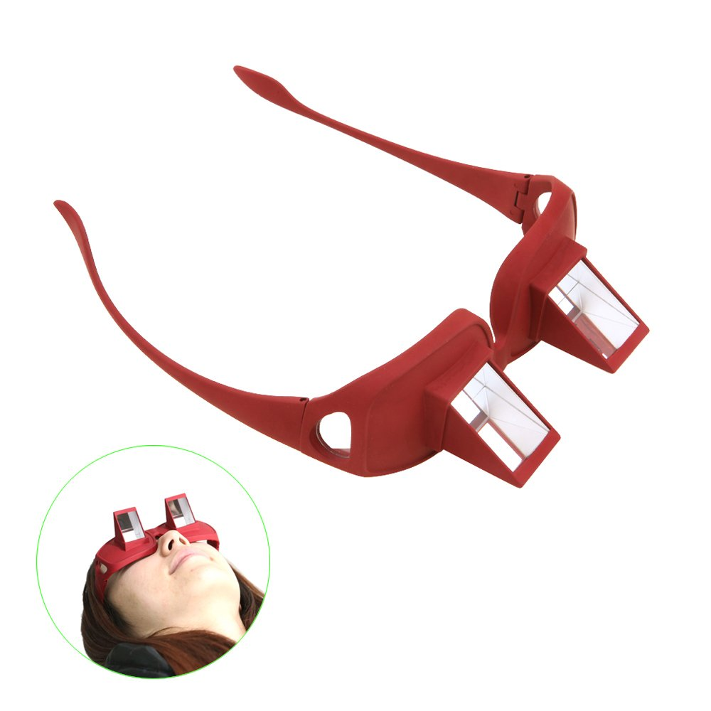 Tera® Unisex Relaxbrille Horizontal Faule Brille Liegeradbrille Periskop für Bettlesen Buchlesen Lesen Fernsehen (Einfach hinlegen und Buch lesen)
