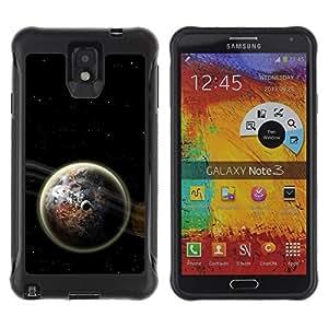 LASTONE PHONE CASE / Suave Silicona Caso Carcasa de Caucho Funda para Samsung Note 3 / Earth Space Dark Cosmos Energy Moon Universe