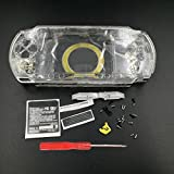 Case Cover Replacement Clear Full Shell Housing Set with Buttons Kit For PSP 1000 PSP1000